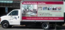 Evansville Association for the Blind delivery truck