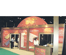 Young Manufacturing trade show booth
