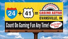 Casino Aztar Directional OD Board